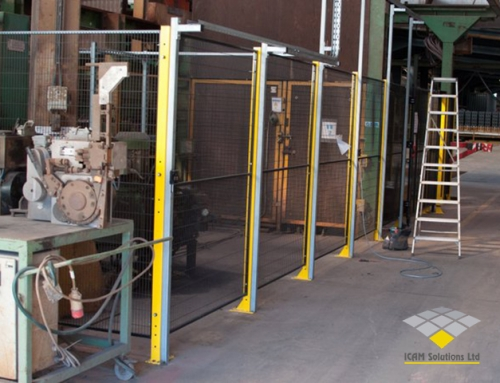 Machine Safety Guarding being installed by ICAM Solutions